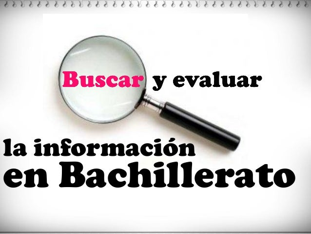 la información  en Bachillerato