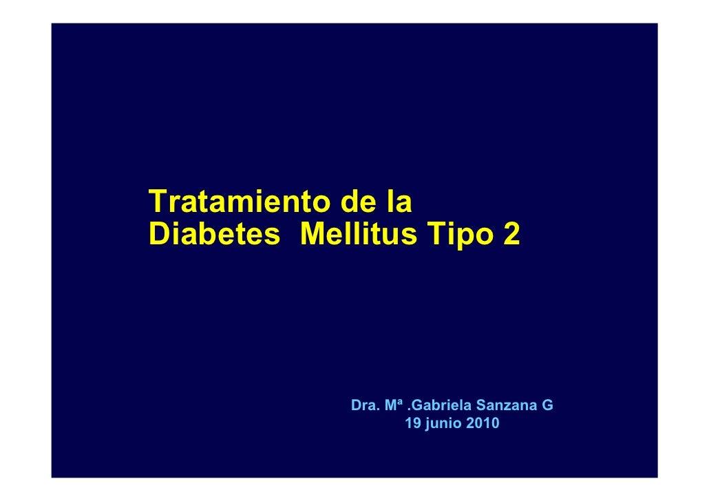 TRATAMIENTO DIABETES MELLITUS TIPO 2