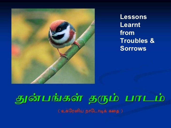 Lessons  Learnt  from  Troubles & Sorrows