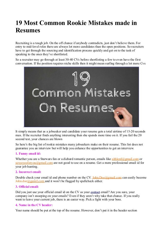 top ten resume mistakes 28 images 20 resume mistakes