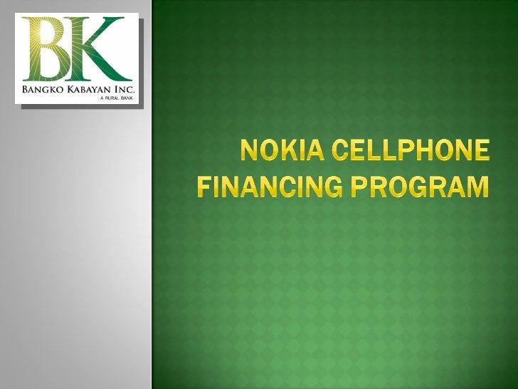 Nokia Cellphone Financing