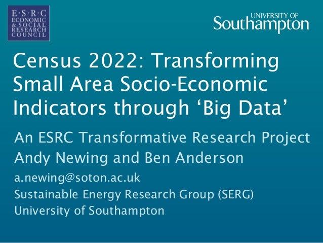 Census 2022 an overview for Census bureau title 13