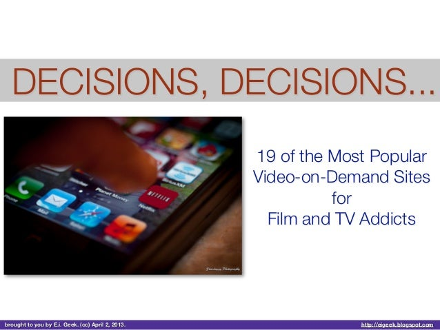 19 of the Most Popular VOD Sites for Film and TV Addicts