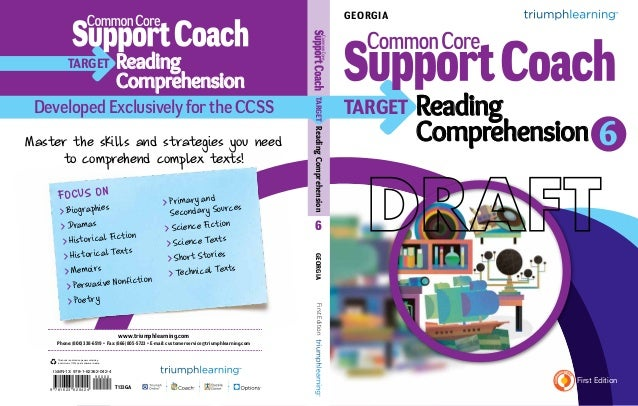Georgia Common Core Support Coach, CCGPS Edition, Target: Reading Comprehension, Grade 6
