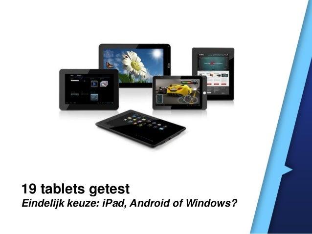 19 tablets die er toe doen
