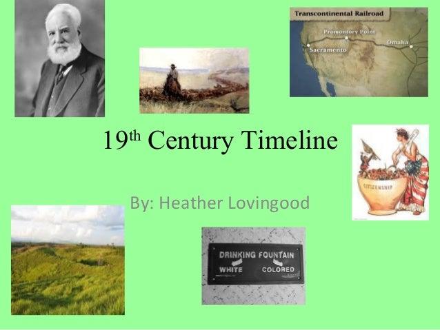 19th Century Timeline  By: Heather Lovingood