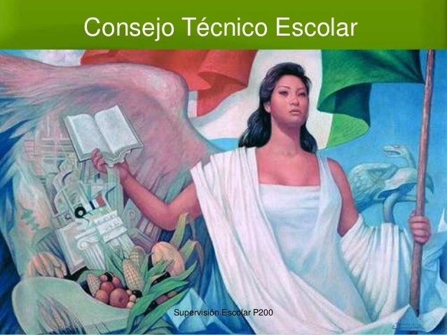 Consejo Técnico Escolar 1Supervisión Escolar P200