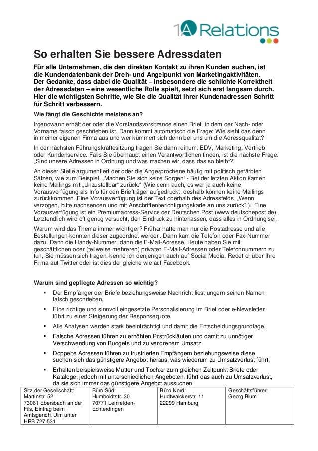 Sitz der Gesellschaft: Martinstr. 52, 73061 Ebersbach an der Fils, Eintrag beim Amtsgericht Ulm unter HRB 727 531 Büro Süd...