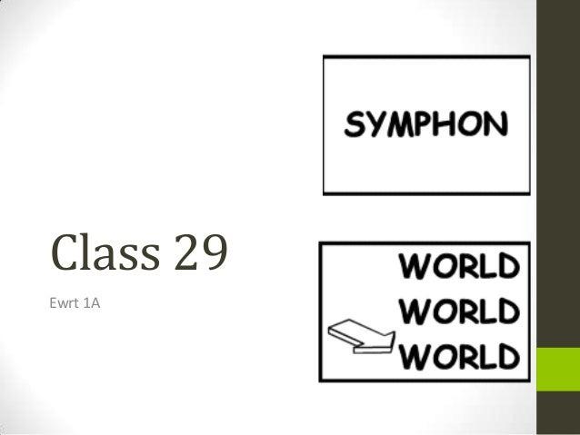 Class 29 Ewrt 1A