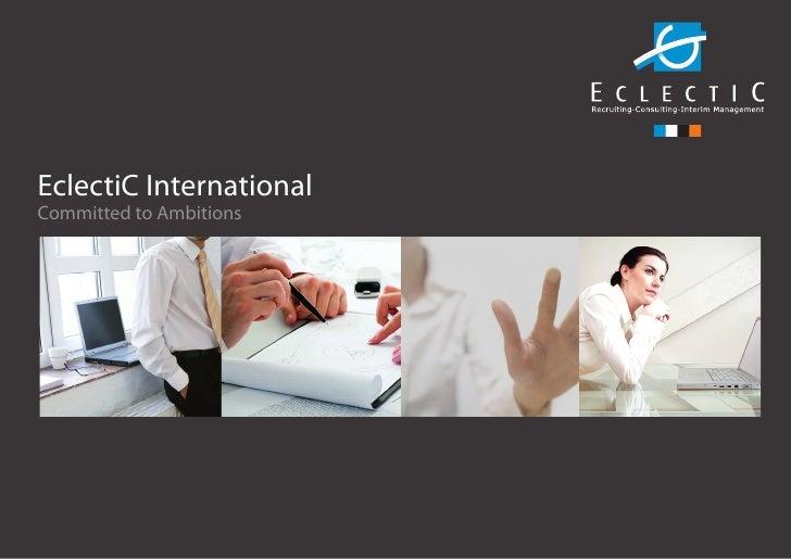 Eclectic Corporate Brochure