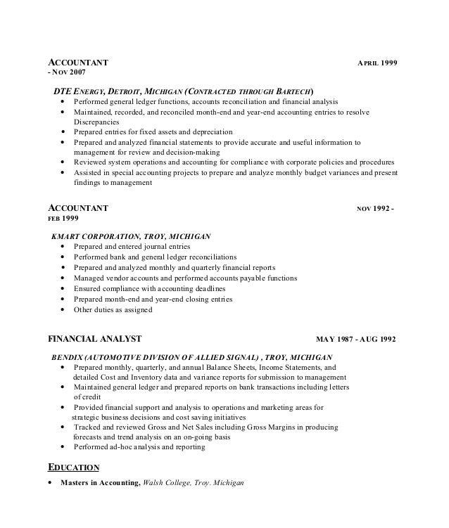 reconciliation accounting resume accounts reconciliation