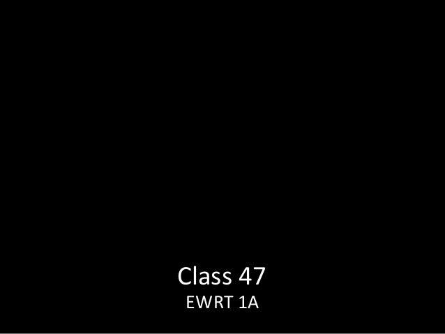 Class 47 EWRT 1A