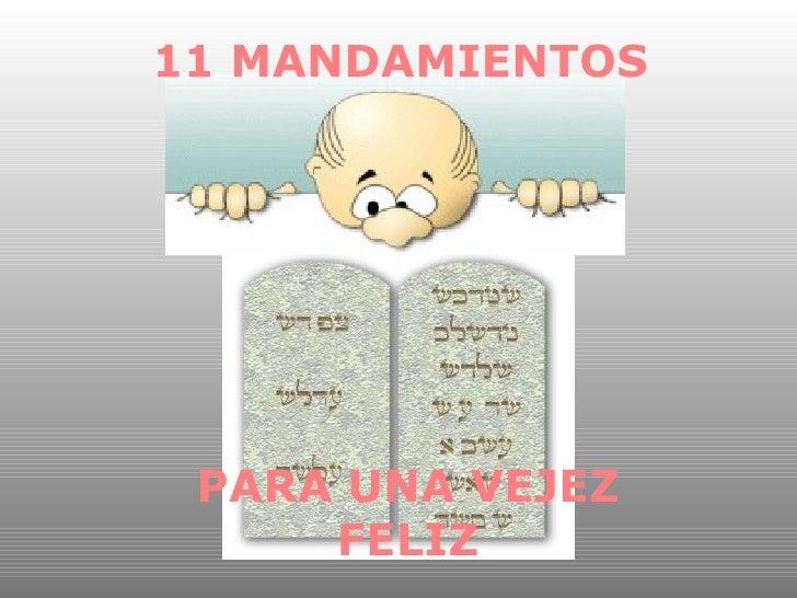 11 mandamientos para gente mayor
