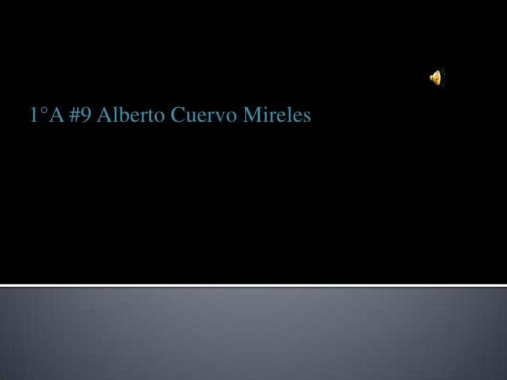 1°A #9 Alberto Cuervo Mireles<br />