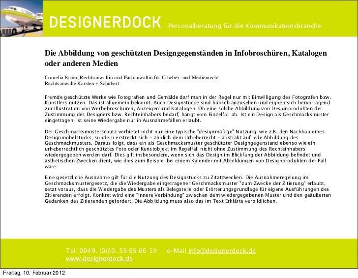 DESIGNERDOCK Rechttipp: Abbildung_von-geschützten_Gegenständen