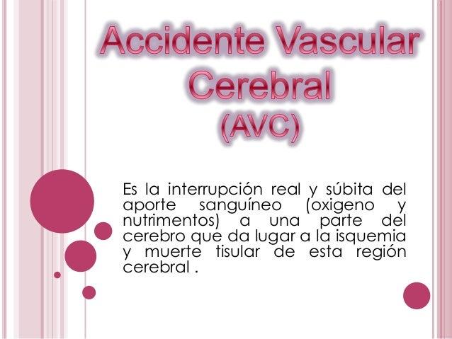 1 accidente vascular cerebral