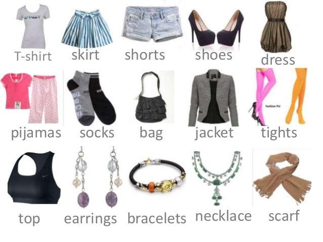 T-shirt skirt shorts shoes dresspijamas socks bag jacket tightstop earrings bracelets necklace scarf