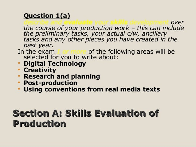describe how you developed your skills in the use of digital technology essay January 2011 1a describe how you developed your skills in the use of digital technology for media production and evaluate how these skills contributed to.