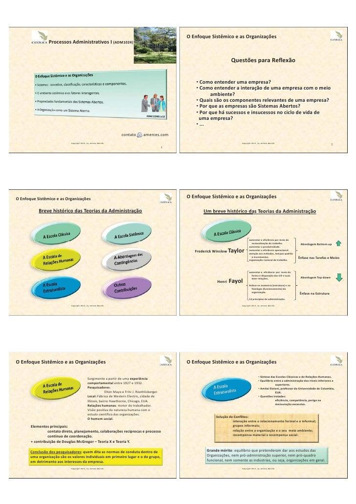 1 a enfoque sistêmico e as organizações_
