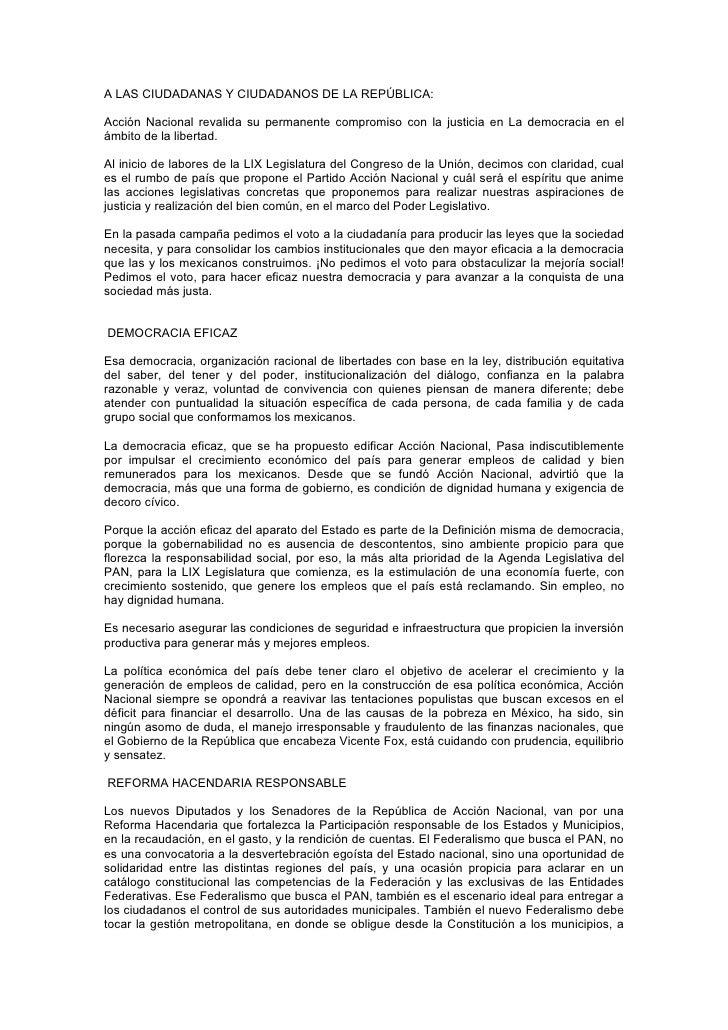 1 agenda legislativa pan 2003