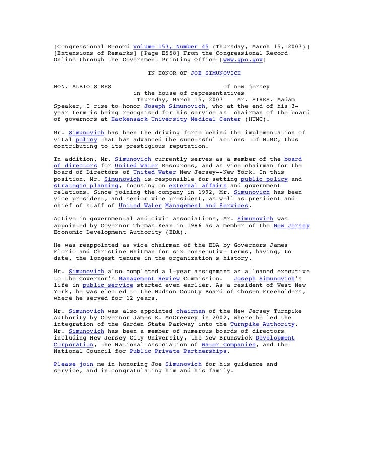 [Congressional Record Volume 153, Number 45 (Thursday, March 15, 2007)][Extensions of Remarks] [Page E558] From the Congre...
