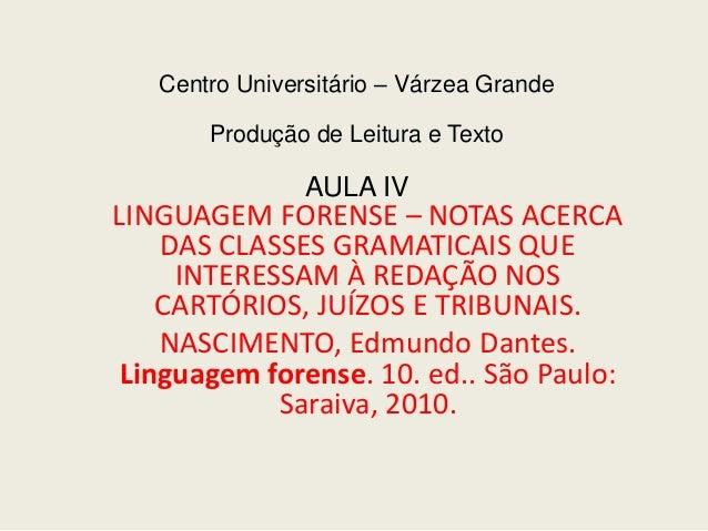 1) a linguagem forense aula para inicio