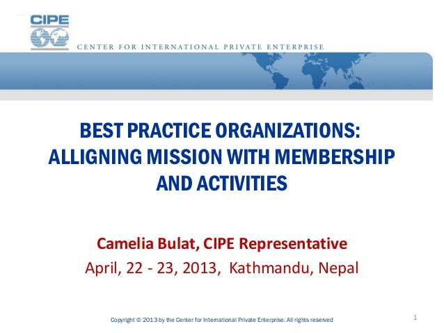 1 alligning mission with membership and activities