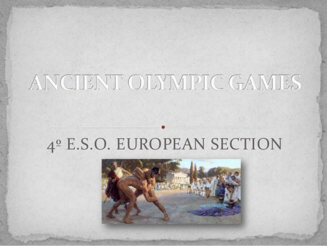 Power point: Ancient olympic games