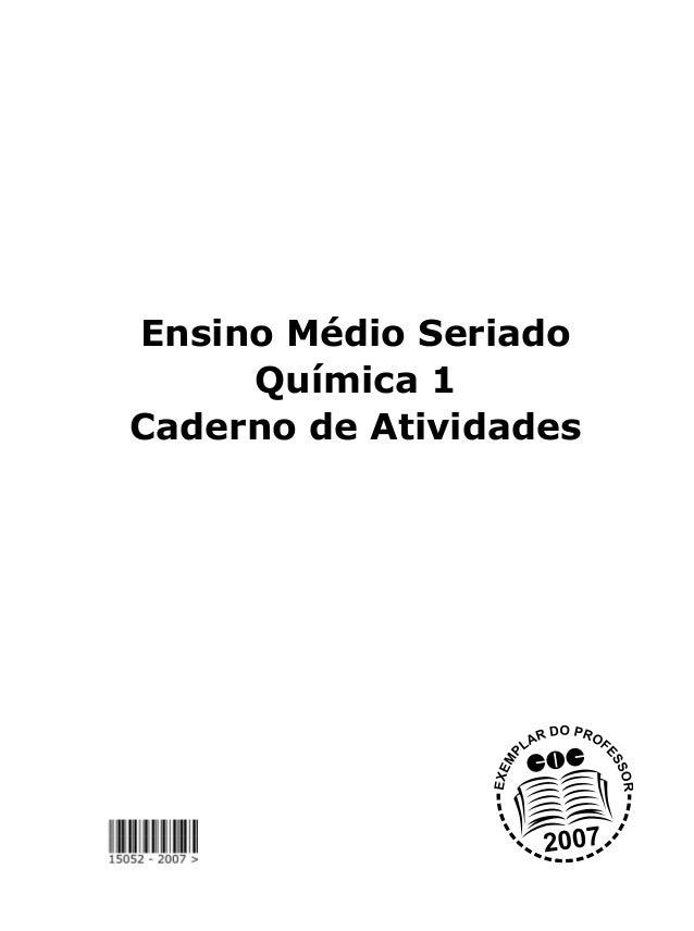 Ensino Médio Seriado Química 1 Caderno de Atividades