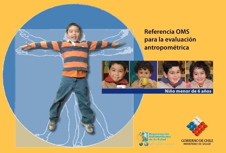Referencia OMS para la evaluación antropométrica            Niño menor de 6 años                     Niño menor de 6 años ...