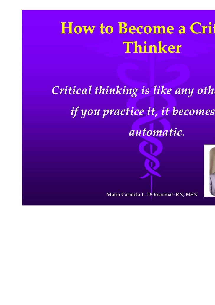 what is critical thinking in nursing process
