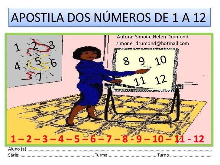 1º apostila dos números de 1 a 12 simone helen drumond