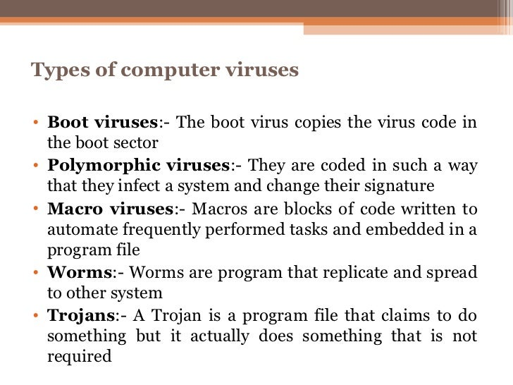 understanding a computer virus and its major types The difference between a computer virus, worm and online chat abbreviations to help you translate and understand today's different types of.