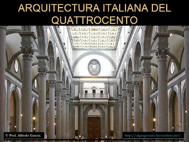 Arquitectura italiana del quattrocento for Architecture quattrocento