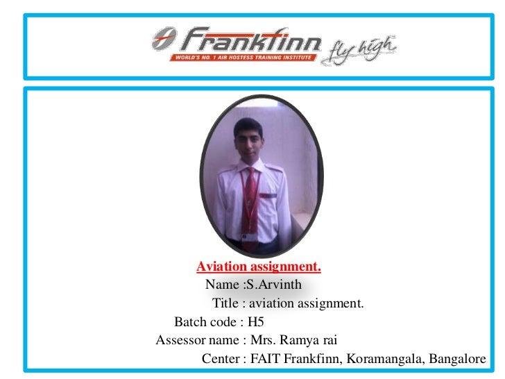 1)arvinth aviation assignment pass