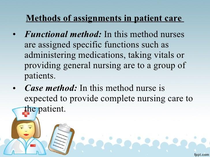 Nursing assignments