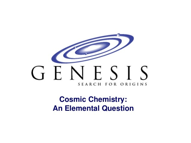 Cosmic Chemistry:An Elemental Question
