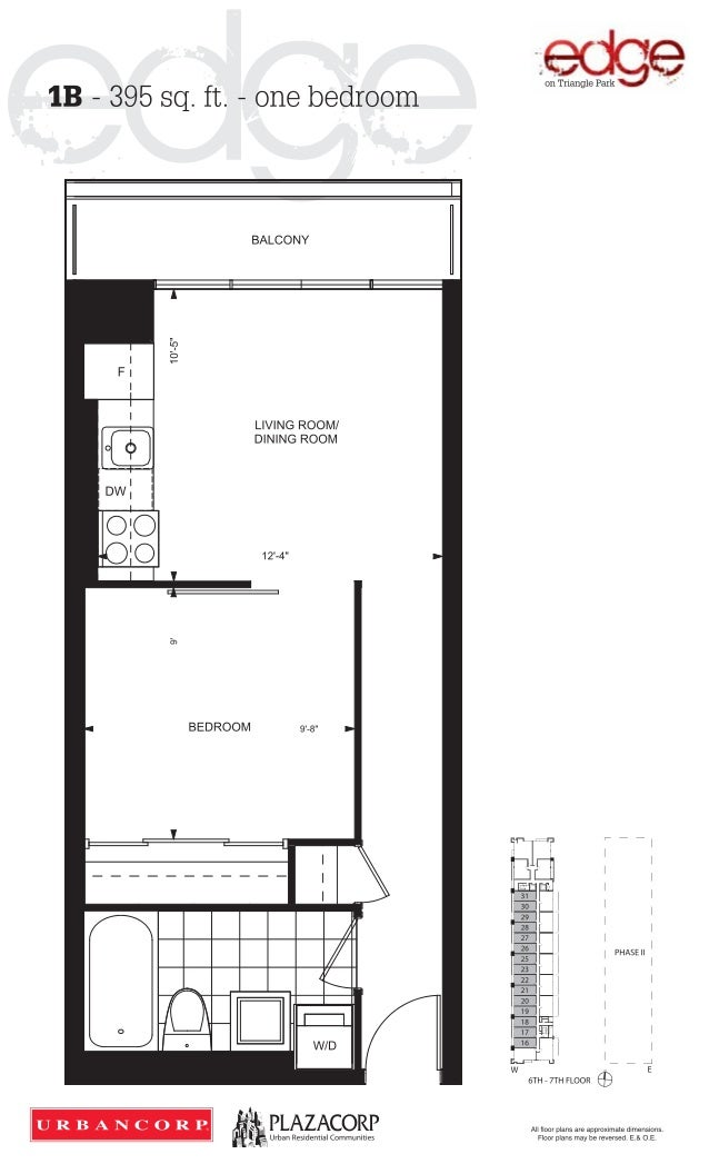 Edge on triangle park condos edge condos floor plan for One bedroom condo design