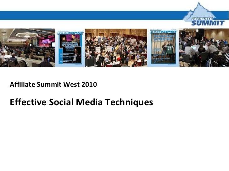 Effective Social Media Techniques