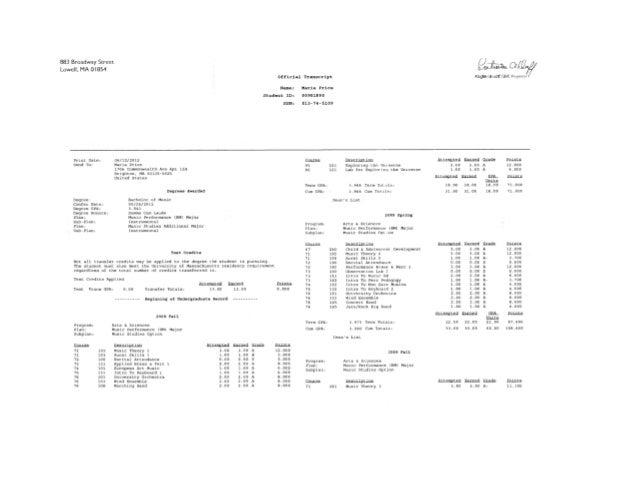 UML Transcripts