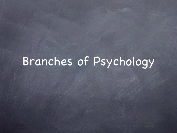 Branches of Psychology
