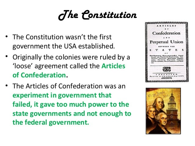 What are two reasons why the constitution wasn't successful?