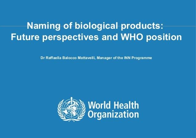 25. Dr. Raffaella Balocco - World Health Organization