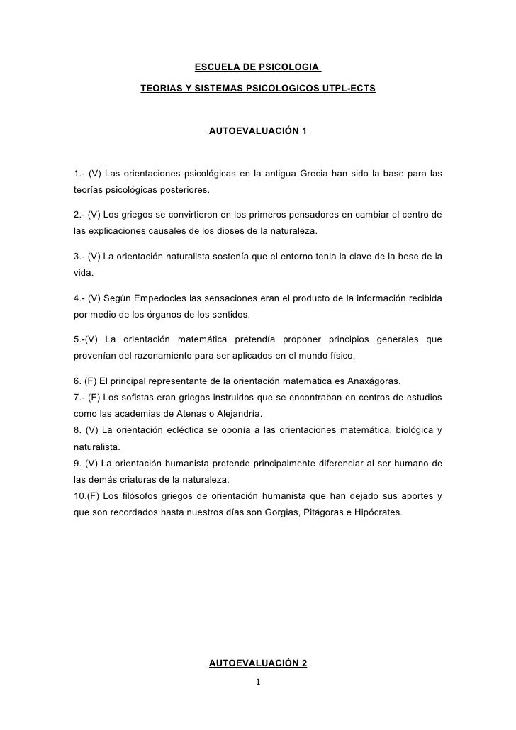 ESCUELA DE PSICOLOGIA                  TEORIAS Y SISTEMAS PSICOLOGICOS UTPL-ECTS                                     AUTOE...