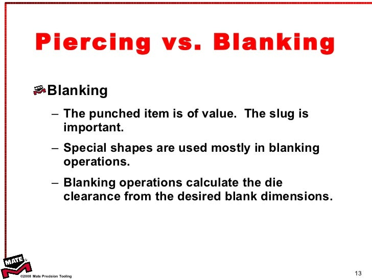 blanking and piercing operation pdf