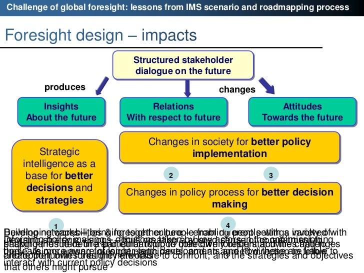 five future scenarios for danish manufacturing Scenario planning, also called scenario thinking or scenario analysis too many decision makers want to bet on one future scenario.