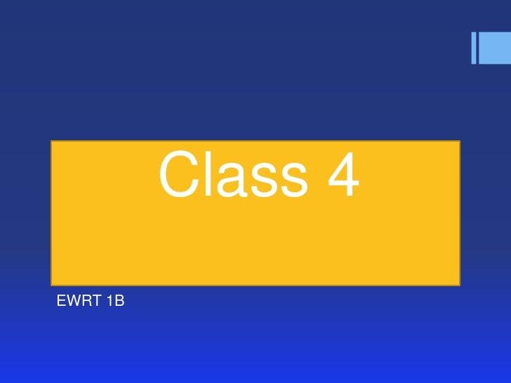 1 b class 4