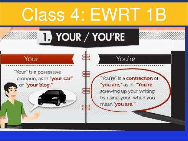 Class 4: EWRT 1B