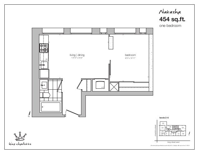 "living | dining 13'10"" x 10'2"" < > <> < > <> bedroom 9'0"" x 10'11"" w/d dw f 0102 03 04 06 07 08 0910 05 king street west c..."