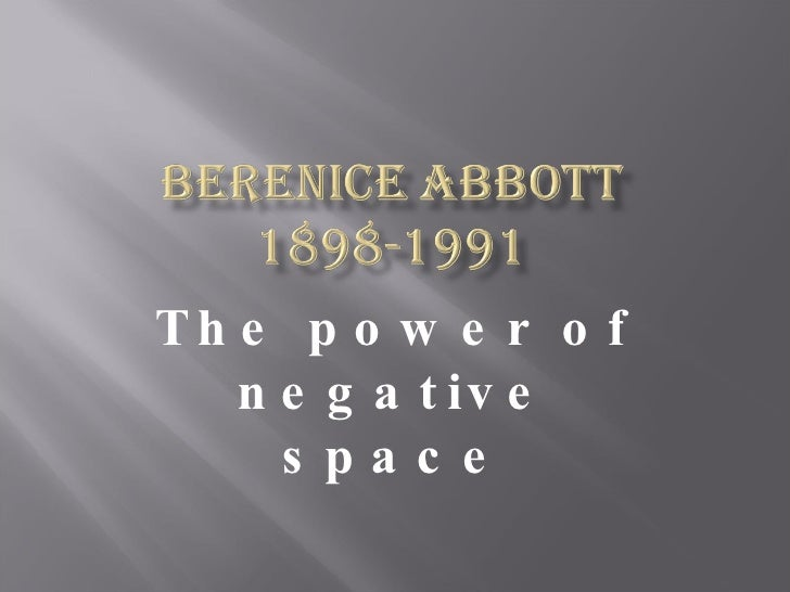The power of negative space